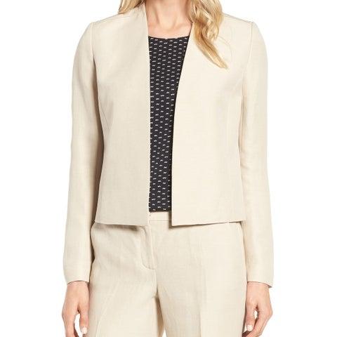 Classiques Entier Beige Women's Size Large L Seamed Open Jacket