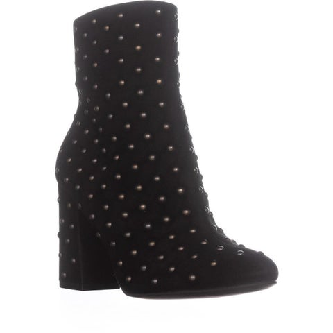 Lucky Brand Wesson2 Ankle Studded Zip Up Boots, Black