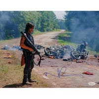Norman Reedus Signed The Walking Dead Daryl Dixon Carnage 11x14 Photo JSA