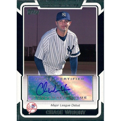 Signed Wright Chase New York Yankees 2008 Topps Highlights Baseball Card Autographed