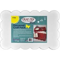 "Bosal Craf-Tex Plus Double-Sided Fusible Placemat Craft Pack-12.5""X18.25"" 4/Pkg"