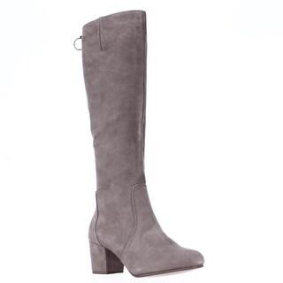 Steve Madden Haydun Block Heel Tall Boots - Taupe Suede