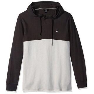 Volcom Gray Mens Size Medium M Thermal Henley Colorblock Shirt