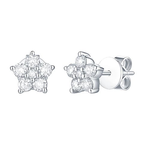 Smiling Rocks Essentials Collection0.54Ct G-H/VS1 Lab Grown Diamond Earring