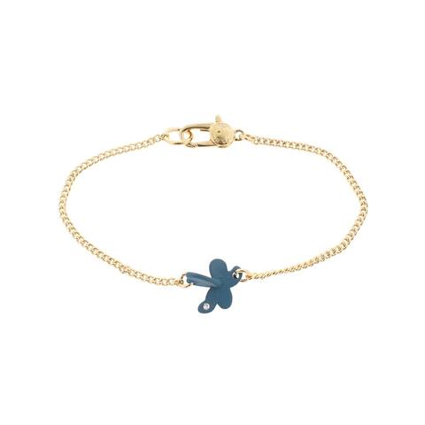 Marc by Marc Jacobs Womens Colored Wildflower Chain Bracelet Crystal Logo - Turkish Tile - O/S