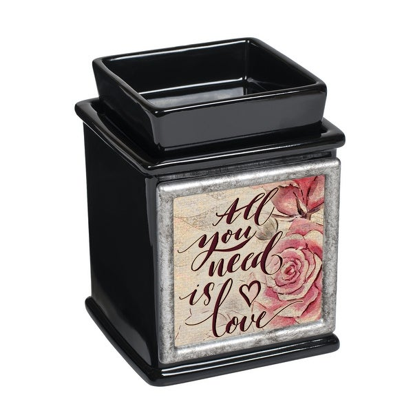 "5"" Black and Pink ""All you need is love"" Printed Interchangeable Warmer - N/A"