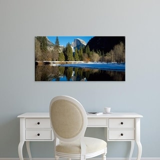 Easy Art Prints Panoramic Images's 'Merced River, Half Dome, Yosemite National Park, Mariposa, California' Canvas Art