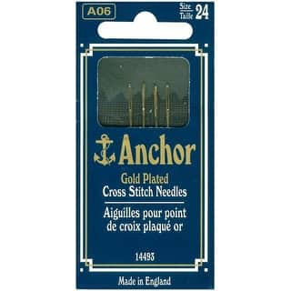 Anchor Gold-Plated Cross Stitch Needles-Size 24 4/Pkg - GOLD|https://ak1.ostkcdn.com/images/products/is/images/direct/1cd652f166310a47d847ffe2c7a1e52dfcb536a2/Anchor-Gold-Plated-Cross-Stitch-Needles-Size-24-4-Pkg.jpg?impolicy=medium