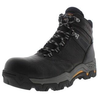 """Ariat Mens WorkHog Trek 6"""" H2O Leather Waterproof Work Boots"""