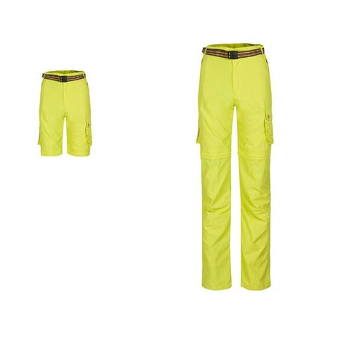 Womens Outdoor Light Weight Breathable Quick Sry Pants Yellow XXL