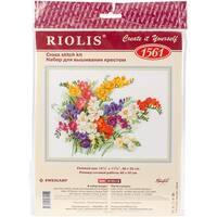 "Freesia Counted Cross Stitch Kit-15.75""X11.75"" 14 Count"