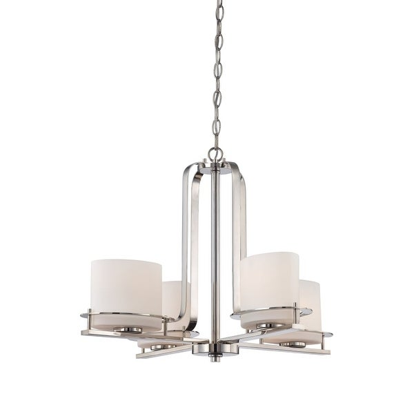 "Nuvo Lighting 60/5104 Loren 4-Light 26-1/4"" Wide Chandelier - Polished Nickel"