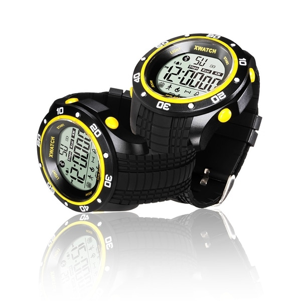 Indigi® Waterproof Sports Bluetooth 4.0 Watch w/ Pedometer + 1 Year Battery Life + Call/SMS reminder (Yellow)