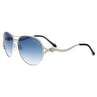 Roberto Cavalli RC886S16W Megrez Silver Aviator Sunglasses - 58-15-130