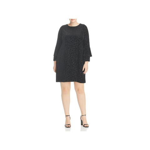 Love Ady Womens Plus Party Dress Bell Sleeves Mini