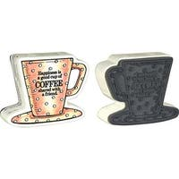 """Coffee - Stampendous Mounted Stamp 3""""X2.5"""""""