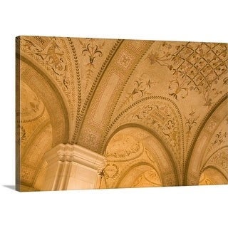 Premium Thick-Wrap Canvas entitled Ceiling Detail, Boston Public Library, Copley Square, Boston, Massachusetts, USA