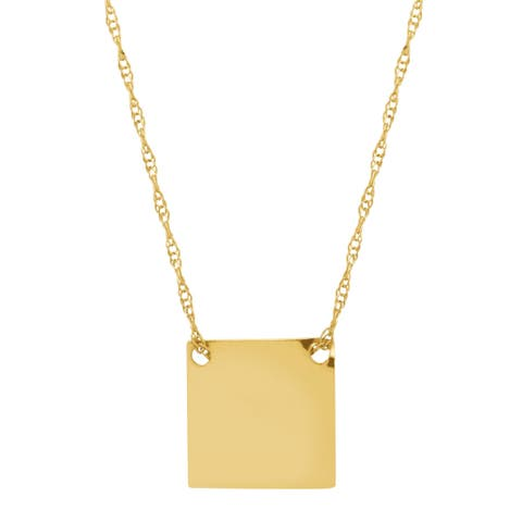 Eternity Gold Petite Tile Necklace in 10K Gold - Yellow