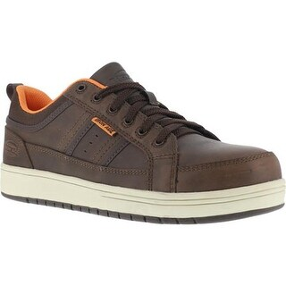 Iron Age Men's Board Rage Steel Toe EH Skate Oxford Brown Leather