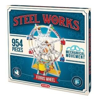 Steel Works Metal Model Ferris Wheel - Fun Educational Project for STEM Kids - 954 Pieces