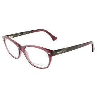 Balenciaga BA5021/V 081 Crystal Shiny Violet/Brown Horn Oval Opticals - 55-16-140