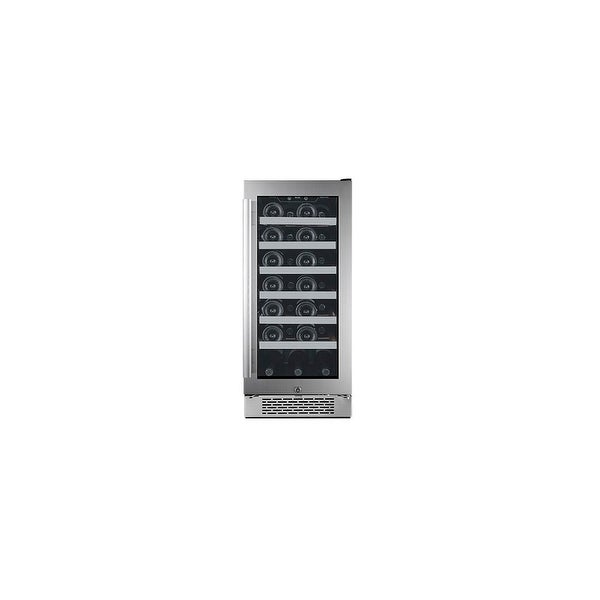 """Avallon AWC151SZRH 15"""" Wide 27 Bottle Capacity Single Zone Wine Cooler with Right Swing Door - Stainless Steel - N/A"""
