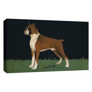 """PTM Images 9-126721  PTM Canvas Collection 10"""" x 8"""" - """"Loyal Pet"""" Giclee Dogs Art Print on Canvas"""