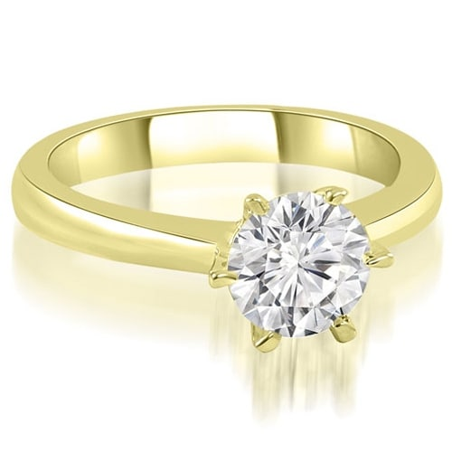0.50 cttw. 14K Yellow Gold 6-Prong Solitaire Round Cut Diamond Engagement Ring