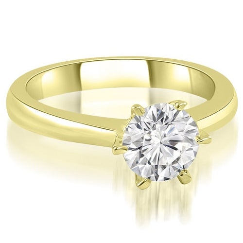 1.00 cttw. 14K Yellow Gold 6-Prong Solitaire Round Cut Diamond Engagement Ring