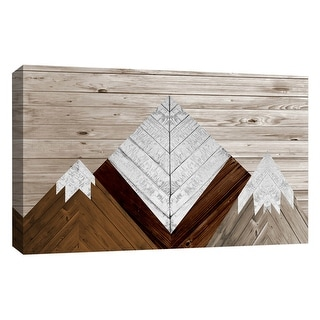 """PTM Images 9-126767  PTM Canvas Collection 10"""" x 8"""" - """"Wood Mountains"""" Giclee Mountains Art Print on Canvas"""