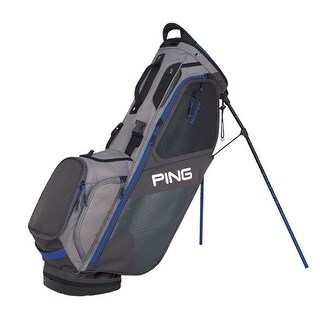 New Ping 2018 Hoofer Golf Stand Bag (Graphite / Silver / Blue) - graphite / silver / blue