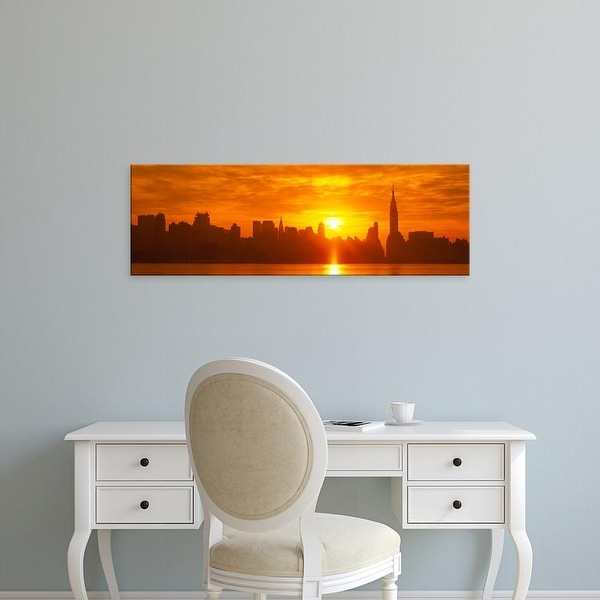 Easy Art Prints Panoramic Images's 'NYC, New York City New York State, USA' Premium Canvas Art