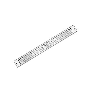 """LUXE Linear Drains 36SW 36"""" Subway Pattern Grate Linear Shower Drain - Satin Stainless - N/A"""