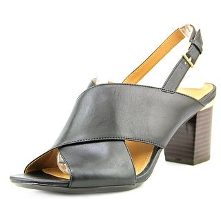 Calvin Klein Cindya Women Open Toe Leather Black Sandals