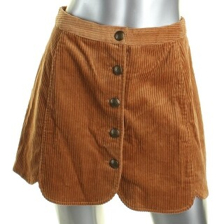 In Awe of You by AWESOMENESS TV Womens Juniors A-Line Skirt Corduroy - XS