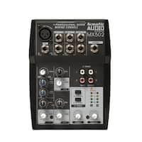 Acoustic Audio MX502 Mixer 5 Channel Premium Pro Audio Mixing Console