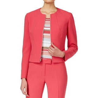 Anne Klein Womens Jacket Crepe lined