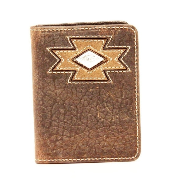 Ariat Western Wallet Mens Bifold Diamond Aztec Medium Brown - One size