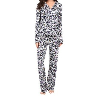 Splendid NEW Blue Womens Size Small S Floral Button Down Pajama Sets