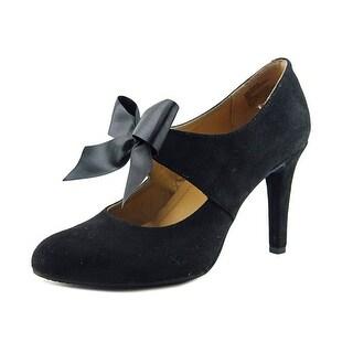Rialto Corra Women Round Toe Suede Black Heels