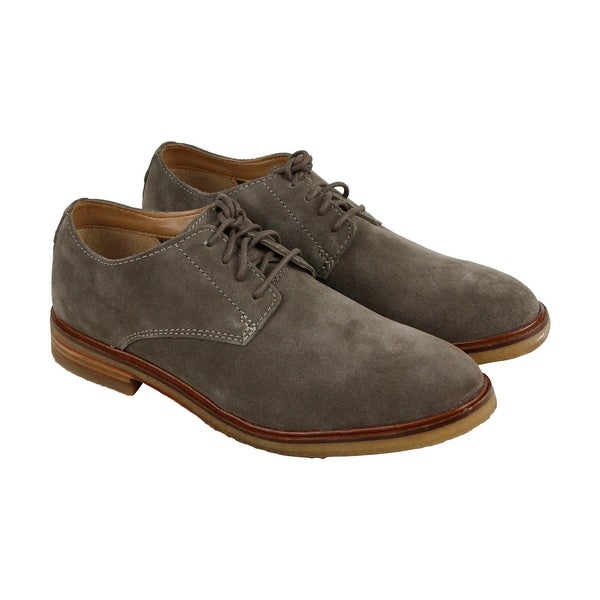 Clarks Clarkdale Moon Mens Green Suede Casual Dress Lace Up Oxfords Shoes