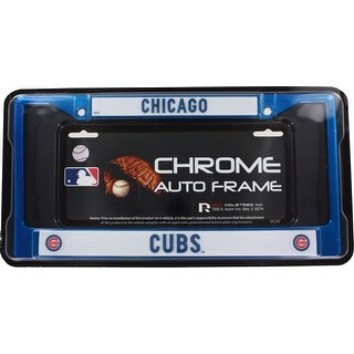 MLB Cubs Chrome Frame, Blue, 15 x 8""