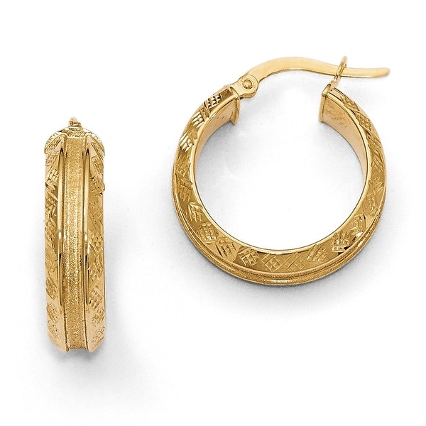 Italian 14k Gold Hoop Earrings