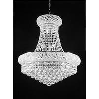 French Empire Crystal Chandelier Chandeliers - Silver