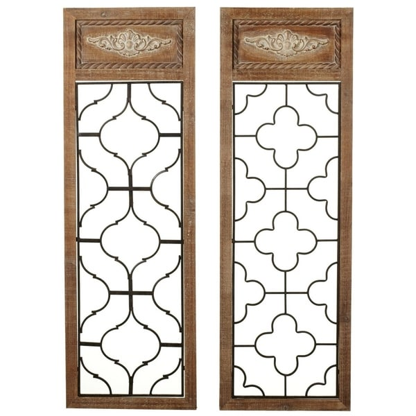 Shop Brown and Black Metallic Decorative Framed Open Geo Wall decor ...