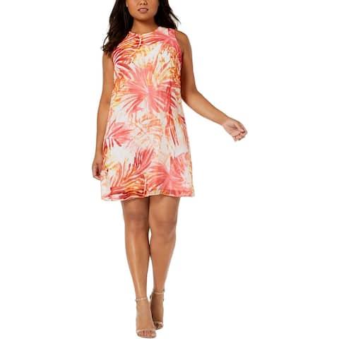 Calvin Klein Womens Plus Party Dress Chiffon Above Knee