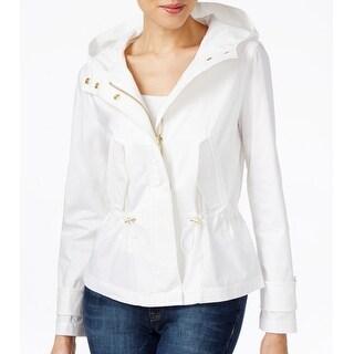 Michael Kors NEW White Women's Size Medium M Anorak Zipped Jacket