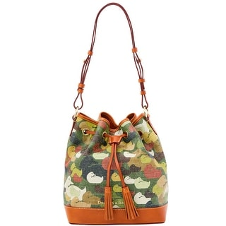 Dooney & Bourke Camouflage Duck Drawstring (Introduced by Dooney & Bourke at $318 in Dec 2014) - Green