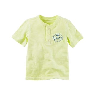 Carter's Little Boys' Sunwashed Henley, 3-Toddler