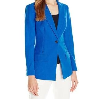 Anne Klein NEW Blue Women's Size 4 Single-Button Notched Jacket